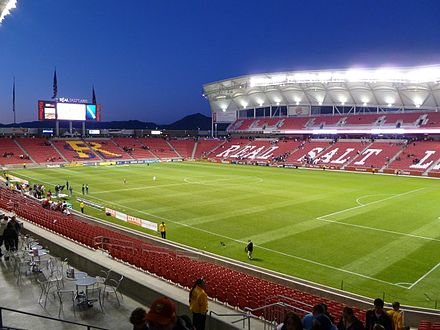 Rio Tinto Stadium Rio Tinto Stadium home of Real Salt Lake is located in Sandy, UT.JPG