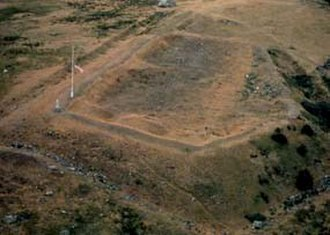 Pig War (1859) - Aerial view of Roberts redoubt San Juan Island