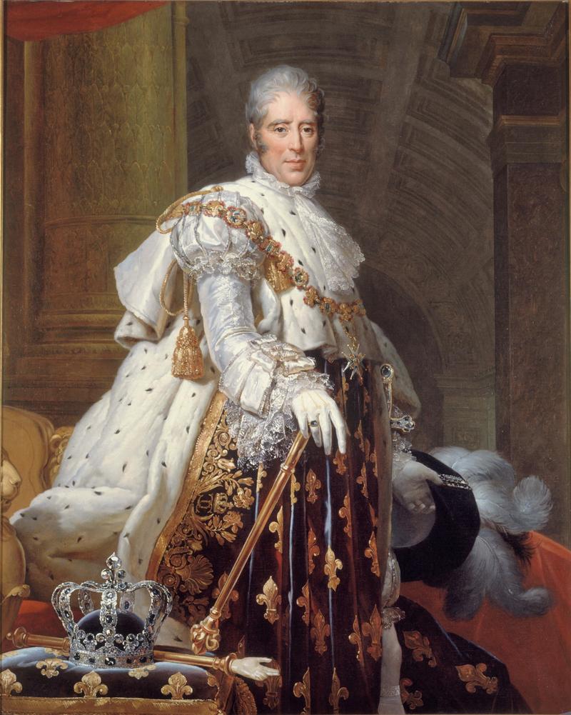 Le roi Charles X en tenue de sacre.