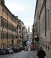 Rom, die Straße Via delle Quattro Fontane.JPG