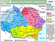 Historical regions now forming Romania