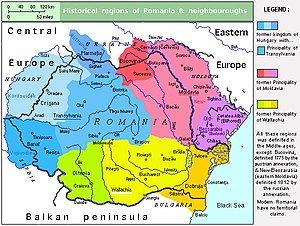 Romania in the Early Middle Ages - Historical regions of Romania