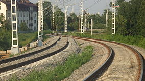 Romashkovo railway platform (view to south 2 lines into 1).JPG