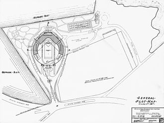 Droyer's Point - Map of Droyer's Point during stadium era