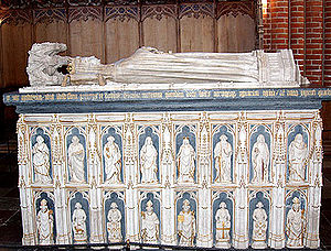 The tomb of Margrethe I in Roskilde Cathedral.