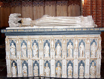 Sarcophagus of Magarethe in Roskilde Cathedral