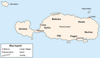 Rotuma - Image: Rotuma Map