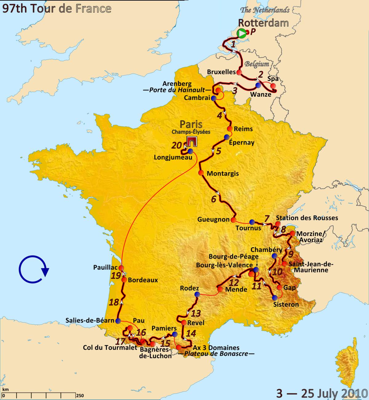 Tour De France Gesamtstrecke