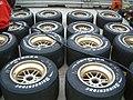 Row of Bridgestone Champ Car tyres - 2002 Sure For Men Rockingham 500.jpg