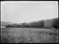 Row of locomotives outside the Hutt Railway Workshops, Woburn ATLIB 290281.png