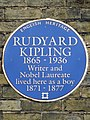 Rudyard Kipling 1865-1936 writer and Nobel Laureate lived here as a boy 1871-1877.jpg