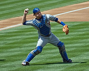 Russell Martin - Martin with the Los Angeles Dodgers in 2008