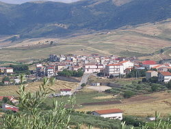 View of Santa Cristina Gela from a nearby hill