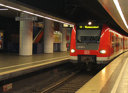 Munich's S-Bahn at the Marienplatz station