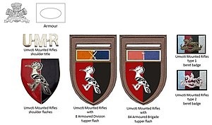 Umvoti Mounted Rifles - SADF era Umvoti Mounted Rifles insignia