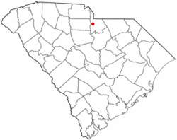 Location of Irwin, South Carolina