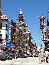 Vue du quartier chinois de San Francisco