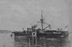 Sachsen-class ironclad - Bayern in 1889