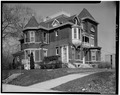 SOUTH (SIDE) AND EAST (FRONT) ELEVATIONS - Thomas Harrison House, 514 West Main Street, Richmond, Wayne County, IN HABS IND,89-RICH,9-2.tif