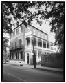 SOUTH (right) AND WEST SIDES - Thomas Heyward House, 18 Meeting Street, Charleston, Charleston County, SC HABS SC,10-CHAR,1-3.tif