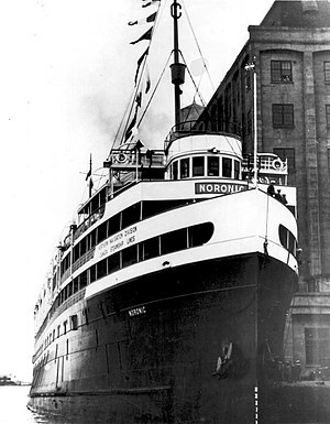 SS Noronic moored in Toronto, 1930