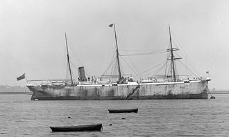 Cable layer - CS Hooper, the world's first purpose-built cable-laying ship, built by C. Mitchell & Co of Newcastle-upon-Tyne in 1873, renamed CS Silvertown in 1881