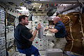 STS-134 Greg Chamitoff and Mark Kelly on Endeavour's middeck.jpg