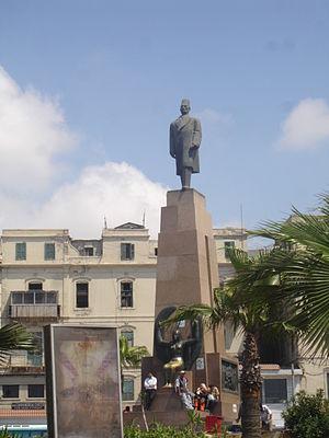 Caesareum of Alexandria - The Saad Zaghloul Pasha statue in Alexandria, built over the Caesareum site.