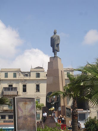 Caesareum of Alexandria - The Saad Zaghloul Pasha statue in Alexandria, built over the Caesareum site.