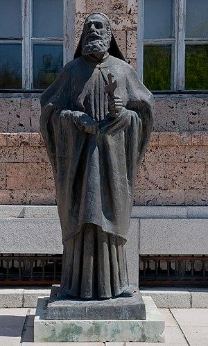Euthymius of Tarnovo - Statue of Patriarch Evtimiy at the Veliko Tarnovo town gallery.