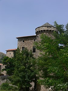 Saint-Pierreville - château Latour - tower South East.JPG