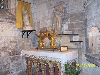 Basilica of Saint-Quentin - Reliquary of the skull of Saint Quentin