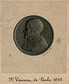 Saint Vincent de Paul. Line engraving by A. Collas after J. Wellcome V0006056.jpg