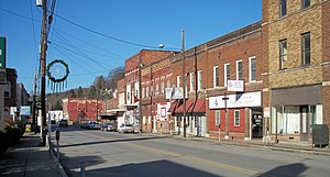 Salem, West Virginia - Main Street in Salem in 2006