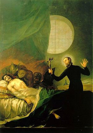 exorcismo, goya, san francisco de borja