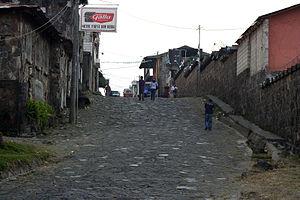 San Lucas Tolimán - Street of San Lucas Tolimán