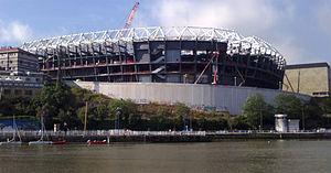 San Mamés Stadium (2013) - construction in progress, June 2013