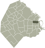 Location of San Nicolás within Buenos Aires