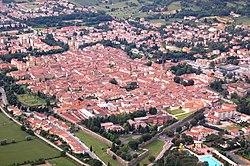 Aerial view of Sansepolcro.