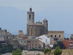 Llagostera, with St. Felix's church