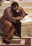 Eraclito nell'affresco La scuola d'Atene