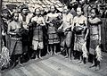 Sarawak; Sea Dayak tribesmen at a head feast. Photograph. Wellcome V0037464.jpg