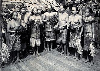 Iban people - An Iban head feast.