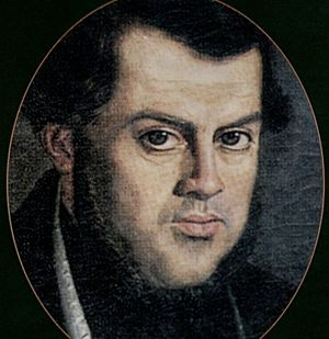 Domingo Faustino Sarmiento - Portrait of Sarmiento at the time of his exile in Chile, by Franklin Rawson.