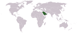 Location of Aràbia Saudita