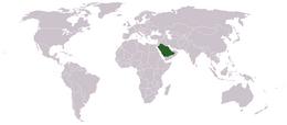 SaudiArabiaWorldMap