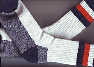 Image of a new pair of socks, created while ex...