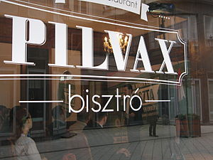 Public holidays in Hungary - András Schiffer, co-leader of the Politics Can Be Different party, speaking at Pilvax Café, the place where the Hungarian Revolution of 1848 was sparked, on the anniversary 15 March 2015.