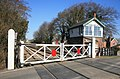 Scopwick Signal box and crossing gates - geograph.org.uk - 1743116.jpg