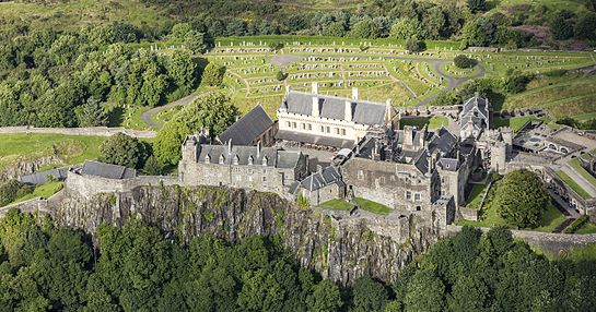 Aerial view of the interior castle